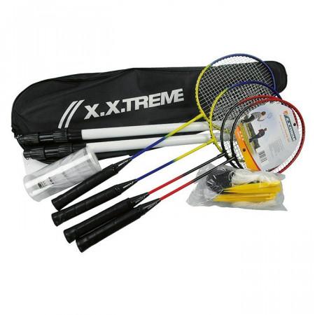 Badminton con Rete e Quattro Racchette