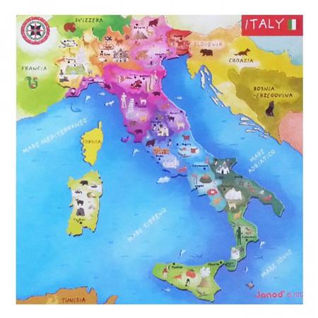 Mappa Dellitalia Per Bambini.Cartina Magnetica Italia Di Janod Un Bel Regalo Per Bambini