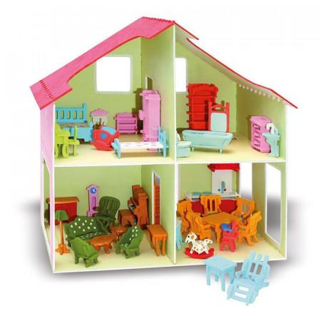 Casa delle bambole da costruire di pebaro kreativ un bel - Costruire casa di legno ...