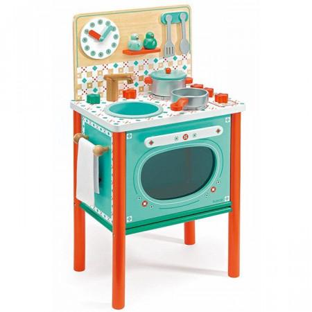 Cucina in legno bambini leo di djeco un bel regalo per bambini - Cucina giocattolo in legno ...
