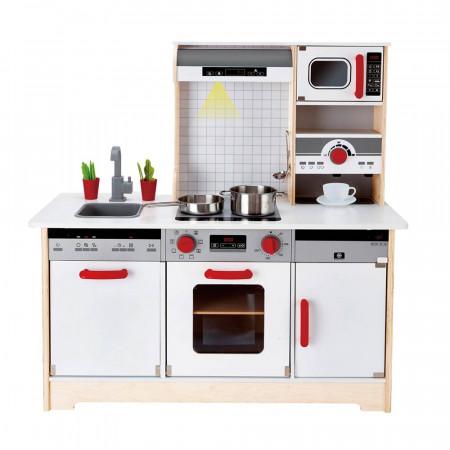 Cucina in legno hape di hape un bel regalo per bambini for Cucina giocattolo