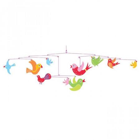 Djeco Mobile Uccelli Fantasia di Colori