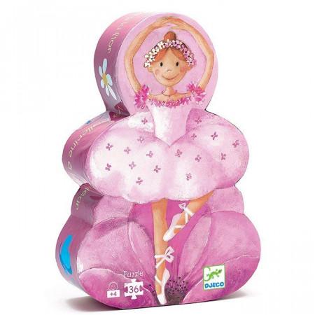 Djeco Puzzle La Ballerina con il Fiore