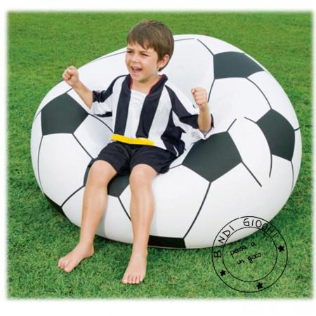 Poltrona Gonfiabile Pallone da Calcio per Bambini