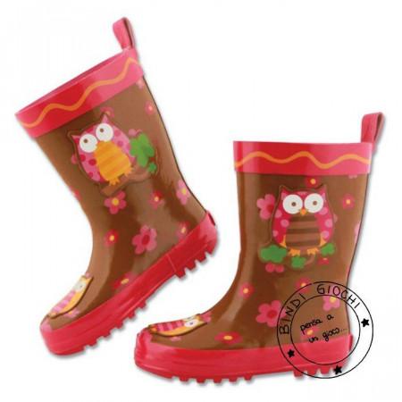 Stivali di Gomma per Bambini Stephen Joseph Gufo