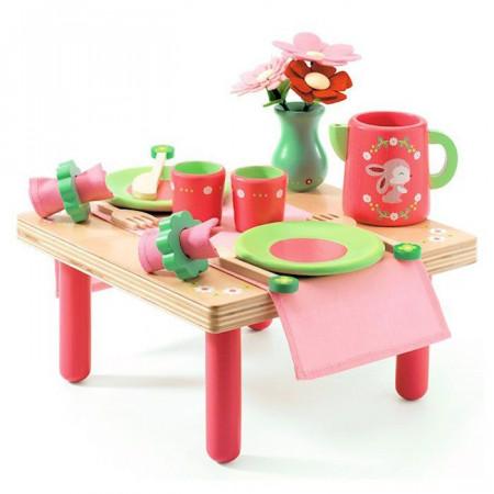 tavolino per cucina giocattolo rose di djeco un bel regalo per bambi. Black Bedroom Furniture Sets. Home Design Ideas