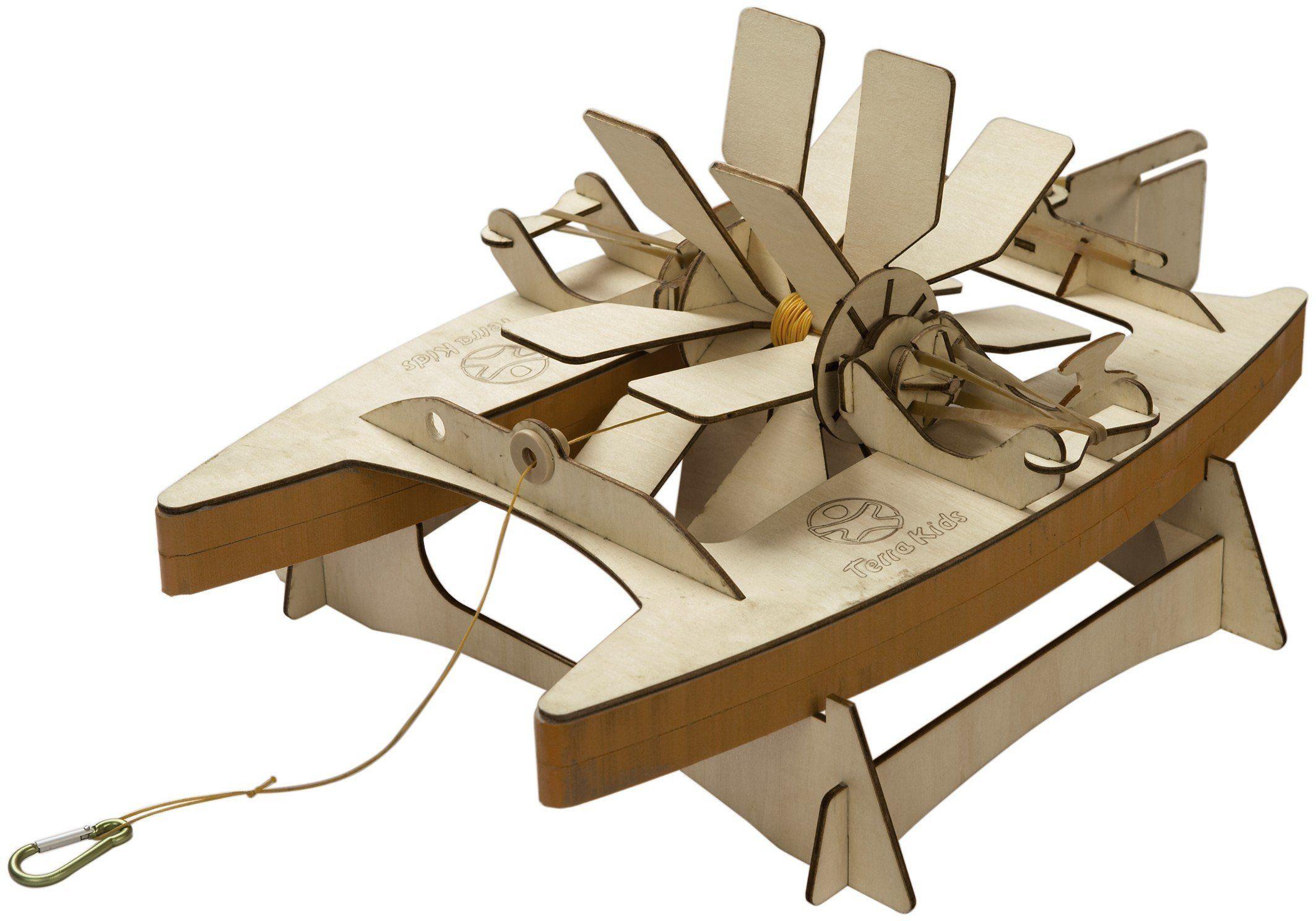 Catamarano da costruire in legno di haba un bel regalo - Costruire un mobile in legno ...