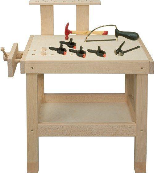 Tavolo da lavoro in legno grande banco da lavoro for Tavolo legno bimbi