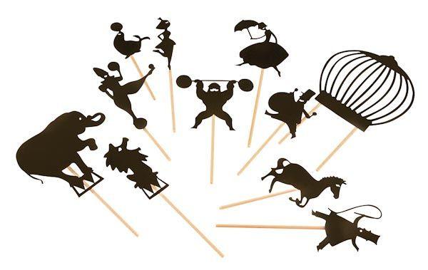 Faretto per ombre cinesi : Ombre cinesi circo di moulin roty un bel regalo per bambini