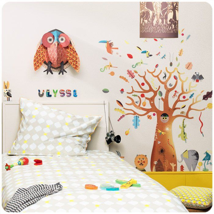 Adesivi da parete baobab di djeco un bel regalo per bambini for Mattonelle adesive da parete