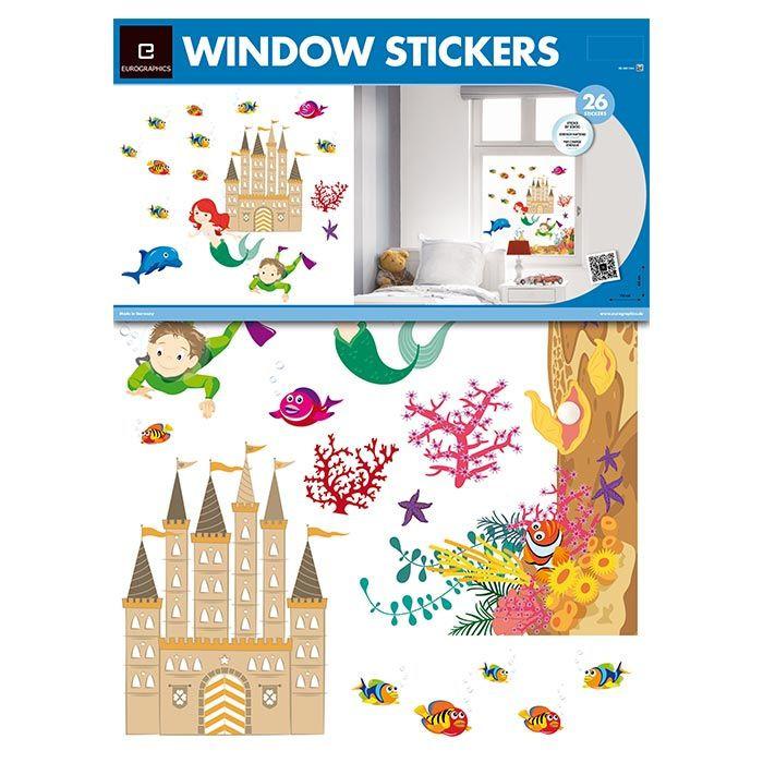 Adesivi per finestre di eurographics i migliori accessori cameretta - Adesivi natalizi per finestre ...