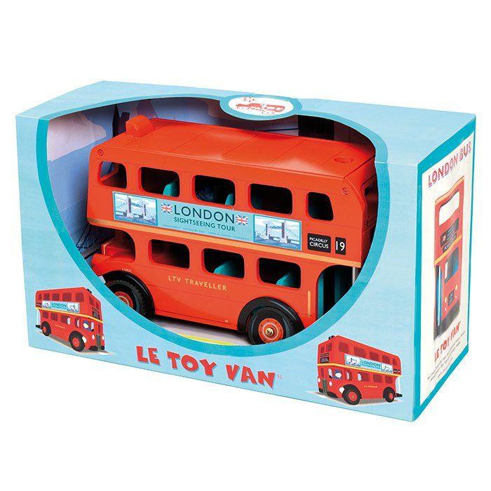 Autobus due piani in legno un bel regalo per bambini for Aprire i piani casa a due piani di concetto