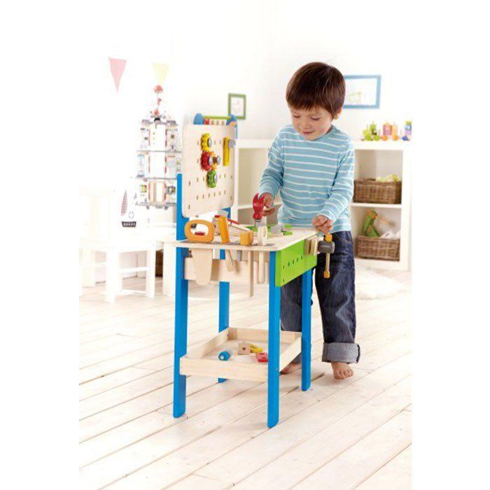 Banco da lavoro per bambini in legno di hape un bel - Banco da lavoro cucina legno ...