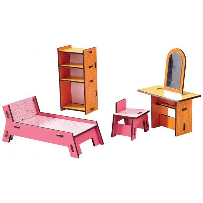 Casa delle bambole camera da letto di haba un bel regalo for Case kit 1 camera da letto