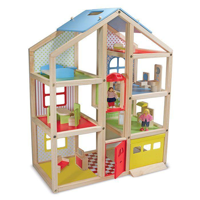 casa delle bambole in legno di melissa doug - un bel regalo per bambin