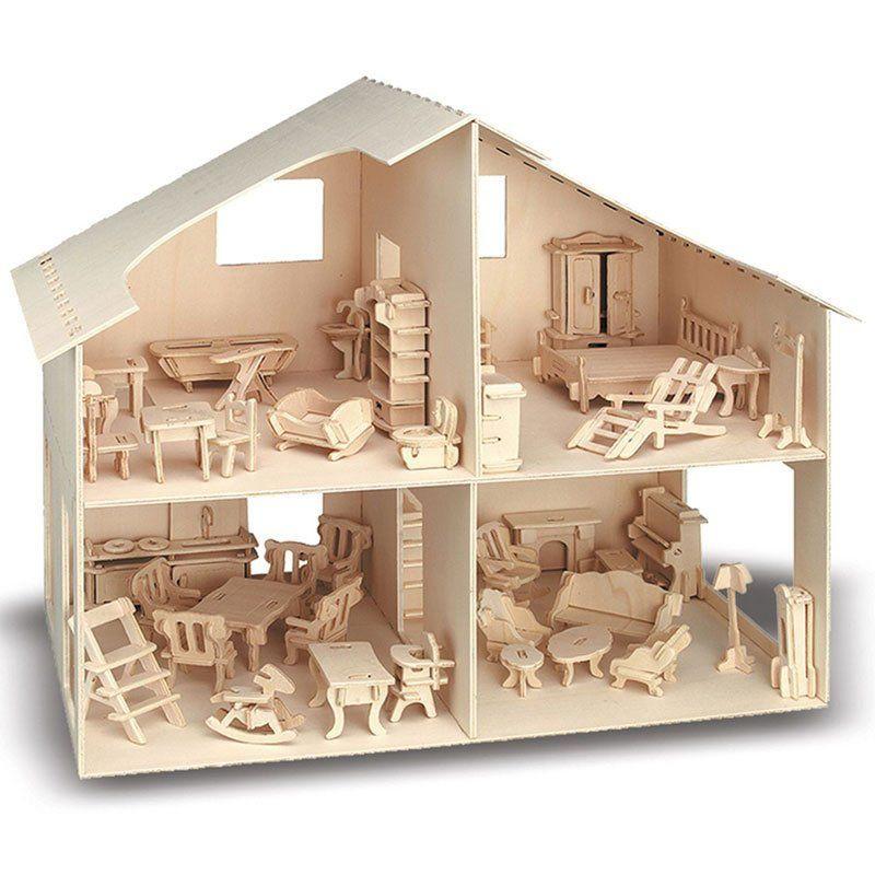 Casa delle bambole da costruire di pebaro kreativ un bel for Costruire case