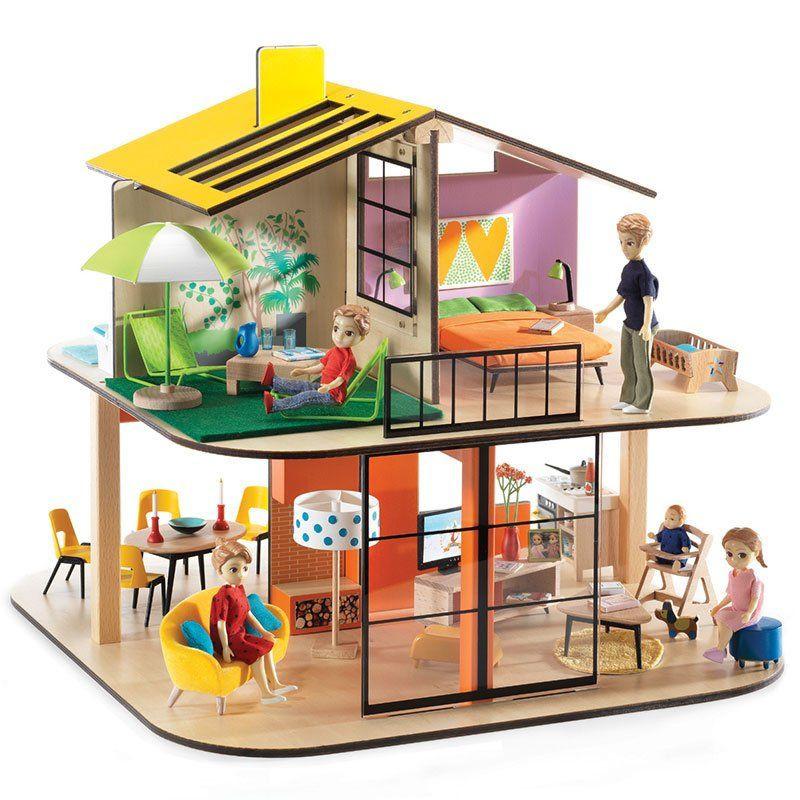 Casa delle bambole djeco di djeco un bel regalo per bambini - Maison en bois playmobil ...