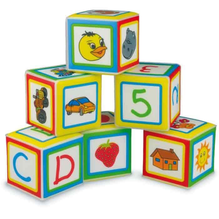 Cubi da Impilare Morbidi per Bambini Gioco di Costruzioni e per ...