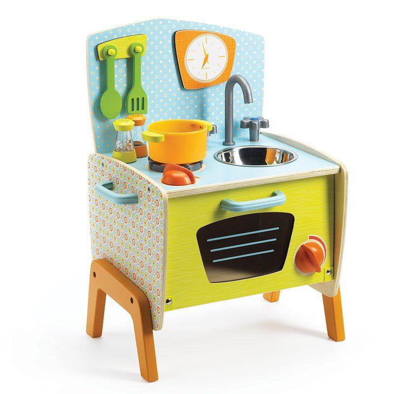 cucina in legno bambini gaby di djeco un bel regalo per On cucina in legno per bambini