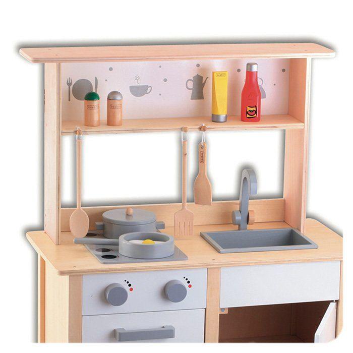 Cucina in legno per bambini cucina giocattolo per bambini accessori cucina giocattolo - Cucine giocattolo ...