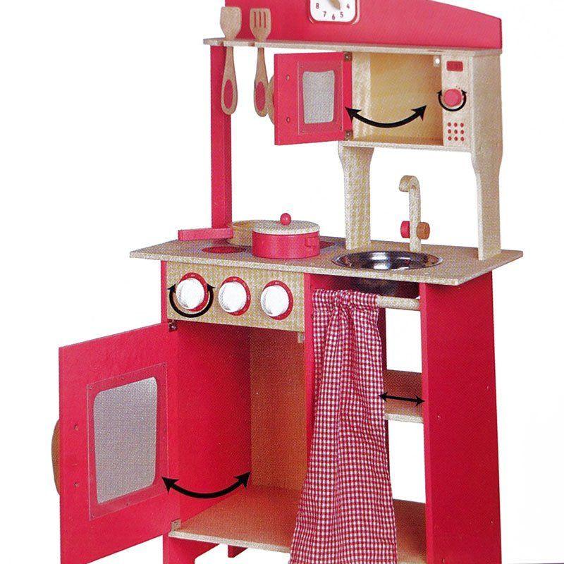 Cucina giocattolo in legno rosa di beeboo un bel regalo - Cocina rosa ...