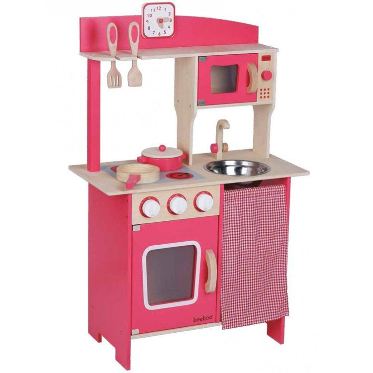 Cucina giocattolo in legno rosa di beeboo un bel regalo per bambini - Cucine bimbe giocattoli ...