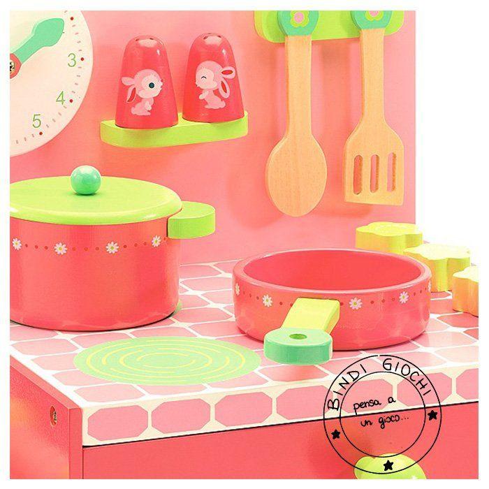 Cucina in Legno Bambini Rose di Djeco - un bel regalo per bambini