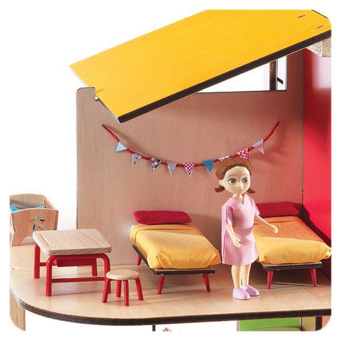 Casa delle bambole cameretta dei bambini di djeco un bel for Cameretta dei bambini