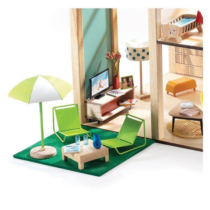 Casa delle Bambole Terrazza Accessori per case delle bambole Djeco ...