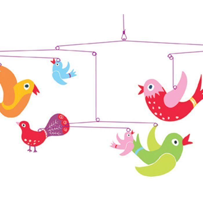 Djeco mobile uccelli fantasia di djeco un bel regalo per for Mobile per bambini