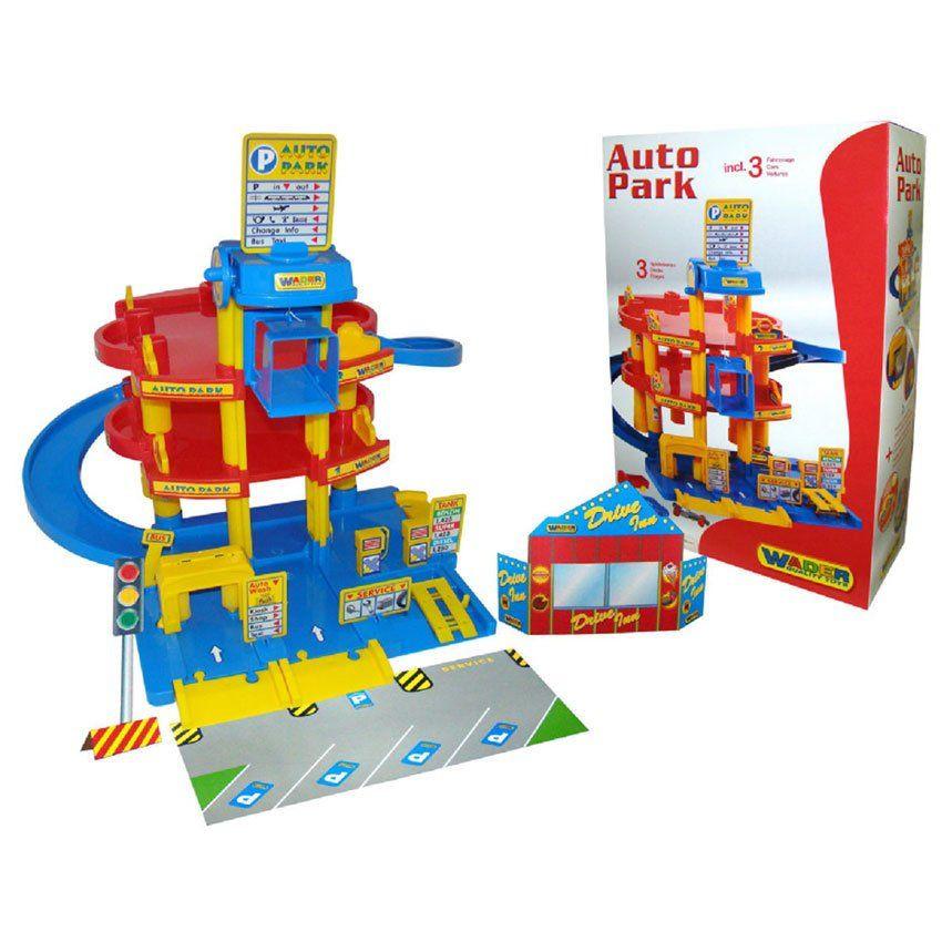 Garage giocattolo su tre livelli di wader un bel regalo for Garage a 2 livelli