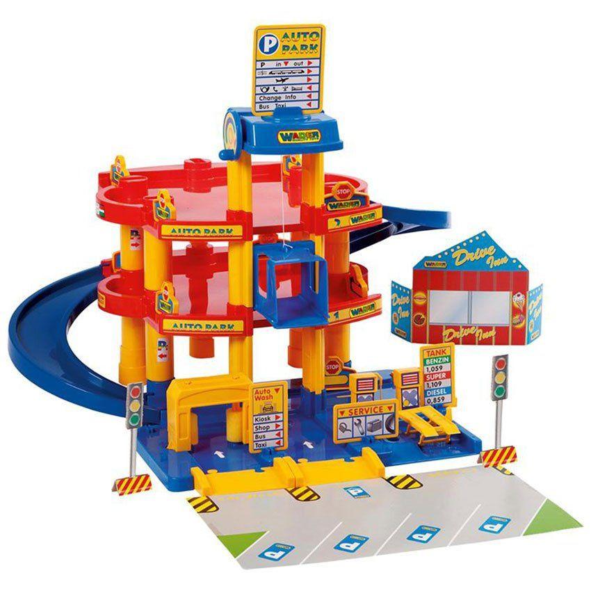 Garage giocattolo su tre livelli di wader un bel regalo for Tre piani di garage per auto con soppalco