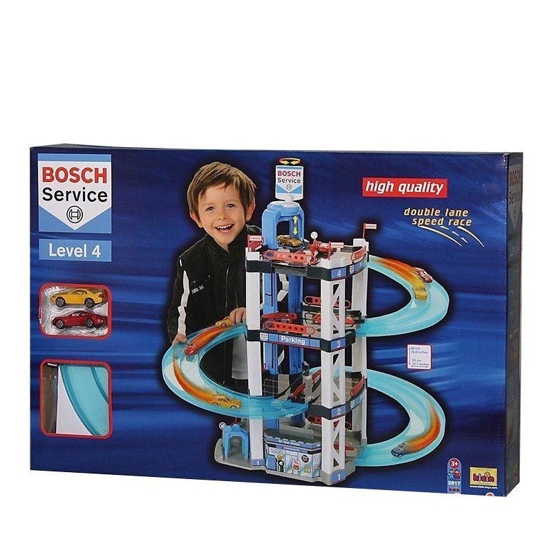Garage giocattolo a quattro piani di klein un bel regalo for Piani di loft di stoccaggio garage