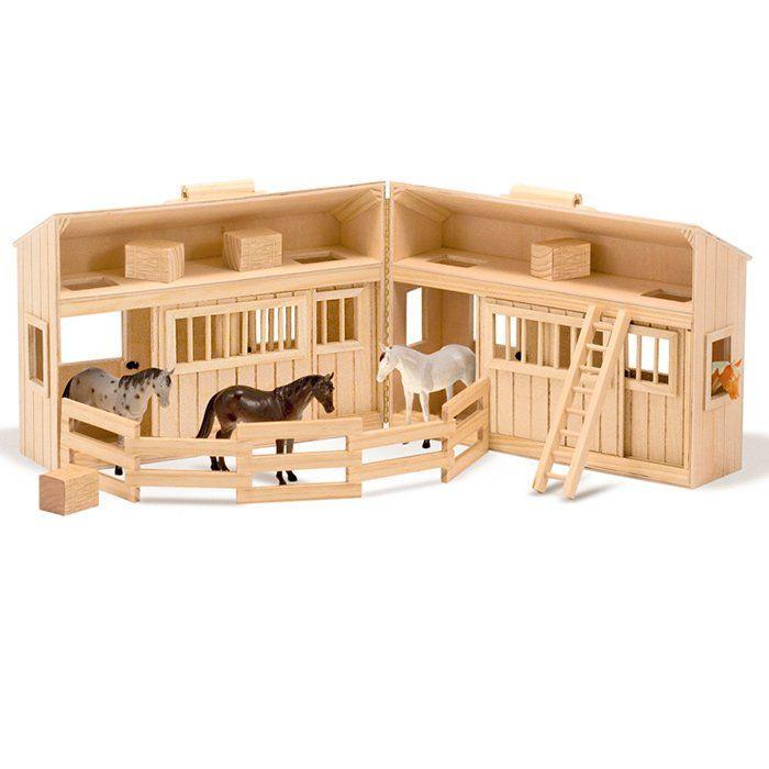 Cavallo Di Legno Giocattolo.Stalla In Legno Giocattolo Di Melissa Doug Un Bel Regalo Per Bambini