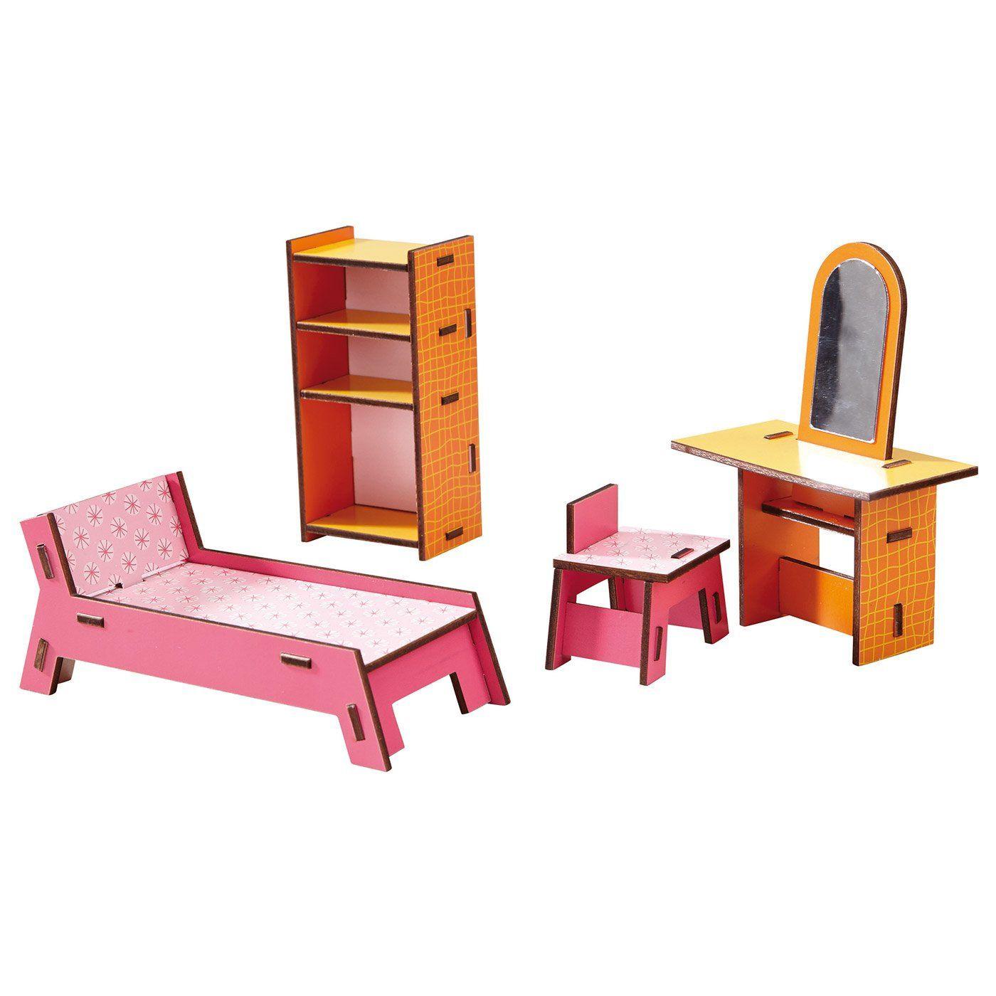 Set Completo Accessori di Arredo Casa delle Bambole di Haba - un bel r