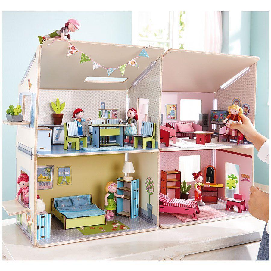 set completo accessori di arredo casa delle bambole di