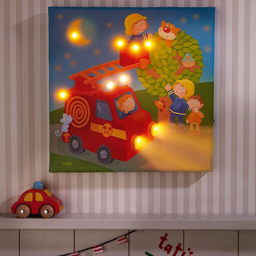 Lampada cameretta a led pompieri di haba un bel regalo per bambini - Lampada per cameretta ...