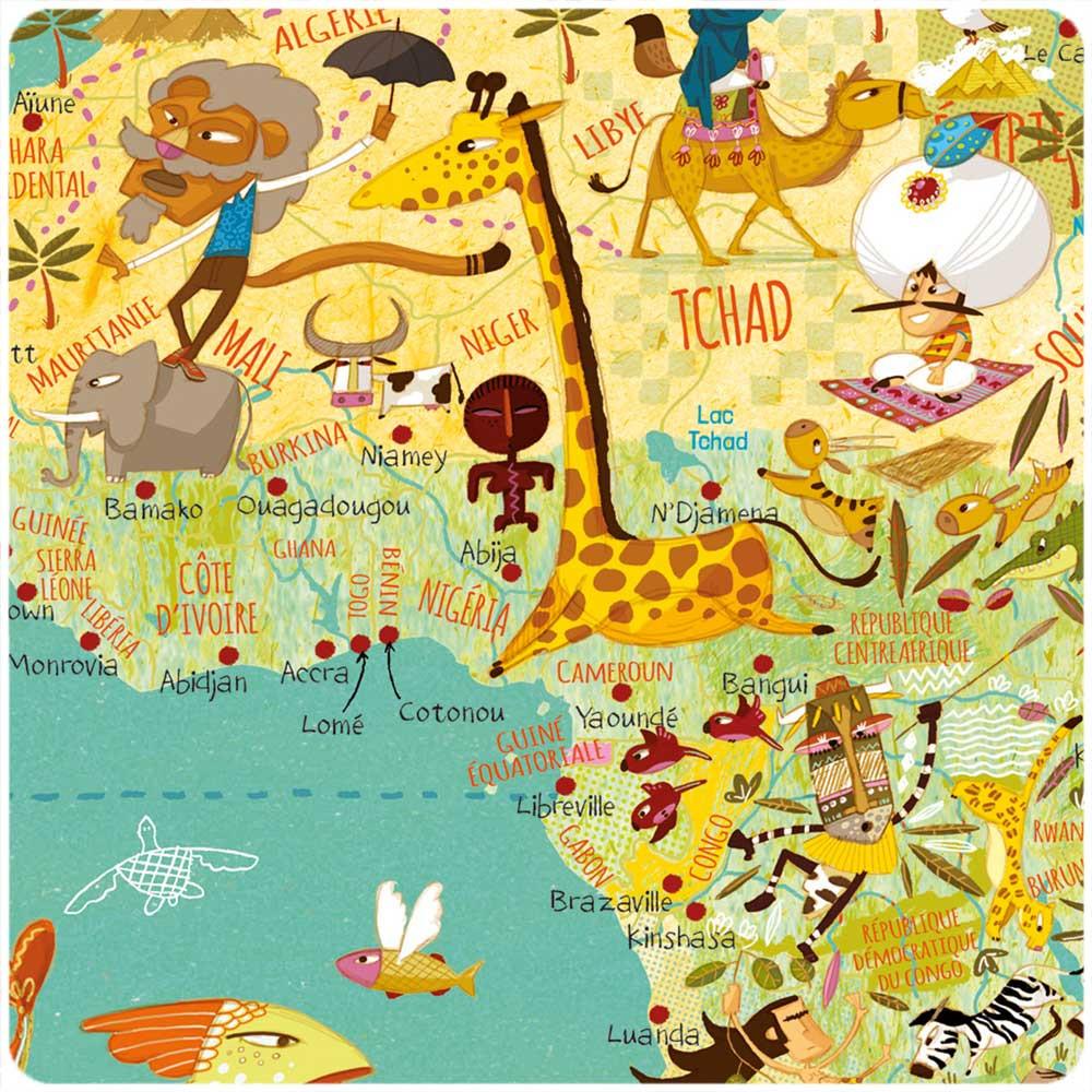Cartina Mondo Per Bambini
