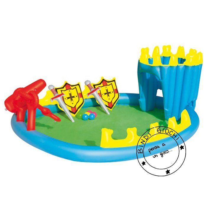Piscina castello gonfiabile per bambini giochi mare e piscina per bambini all 39 aperto bindi - Casa gonfiabile per bambini ...