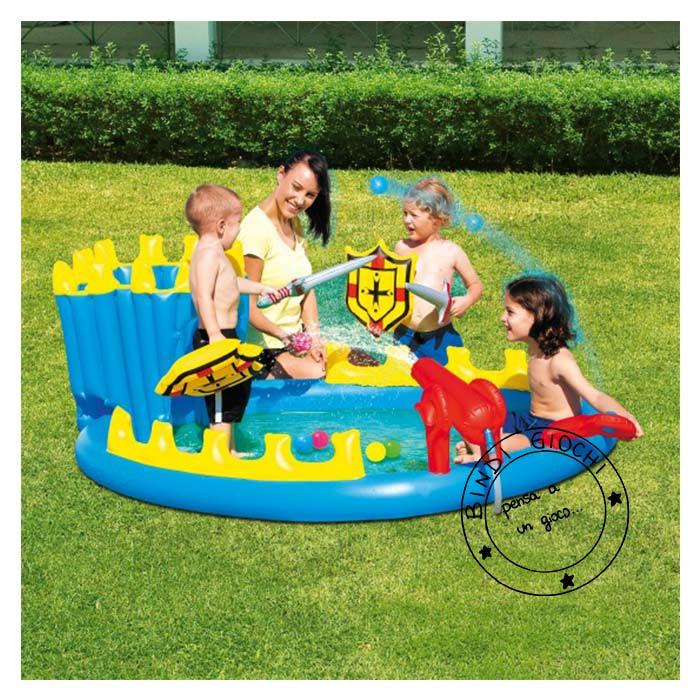 Piscina gonfiabile per bambini a forma di castello di bestway un bel - Casa gonfiabile per bambini ...