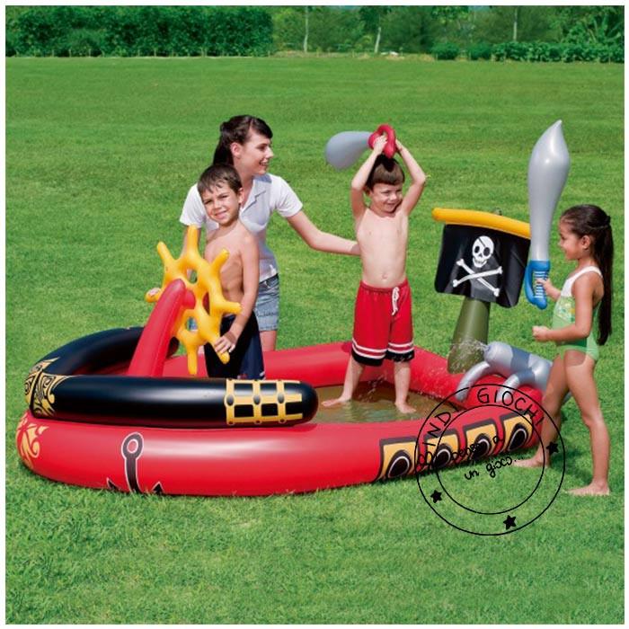 Piscina nave dei pirati di bestway un bel regalo per bambini - Casa gonfiabile per bambini ...