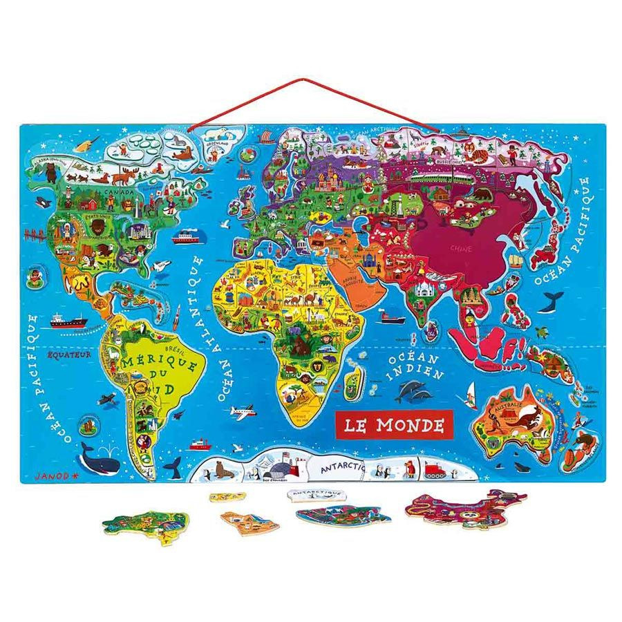 Planisfero per bambini di janod un bel regalo per bambini for Planisphere enfant