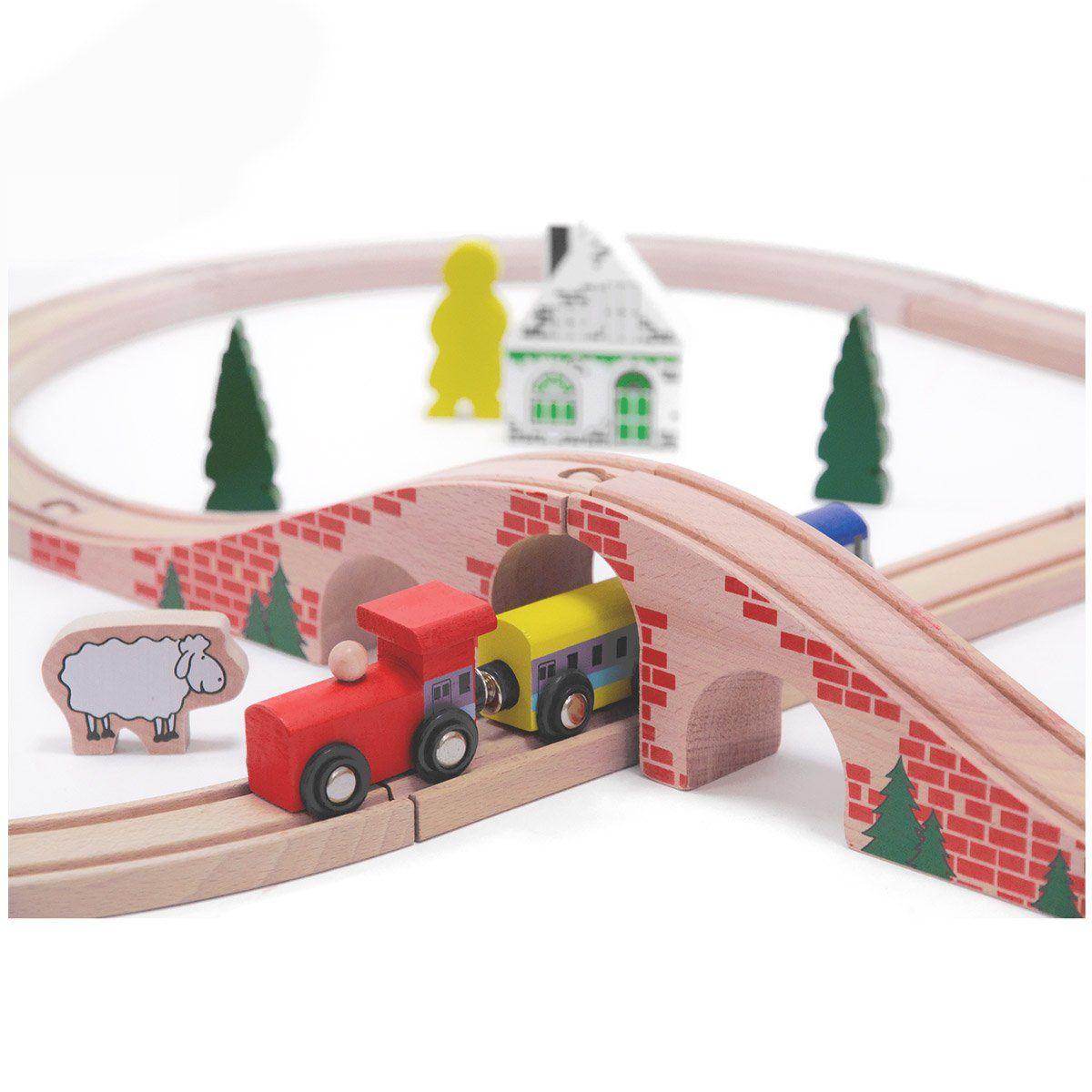 Ponte per trenino in legno di beeboo un bel regalo per bambini - Trenino di legno ikea ...
