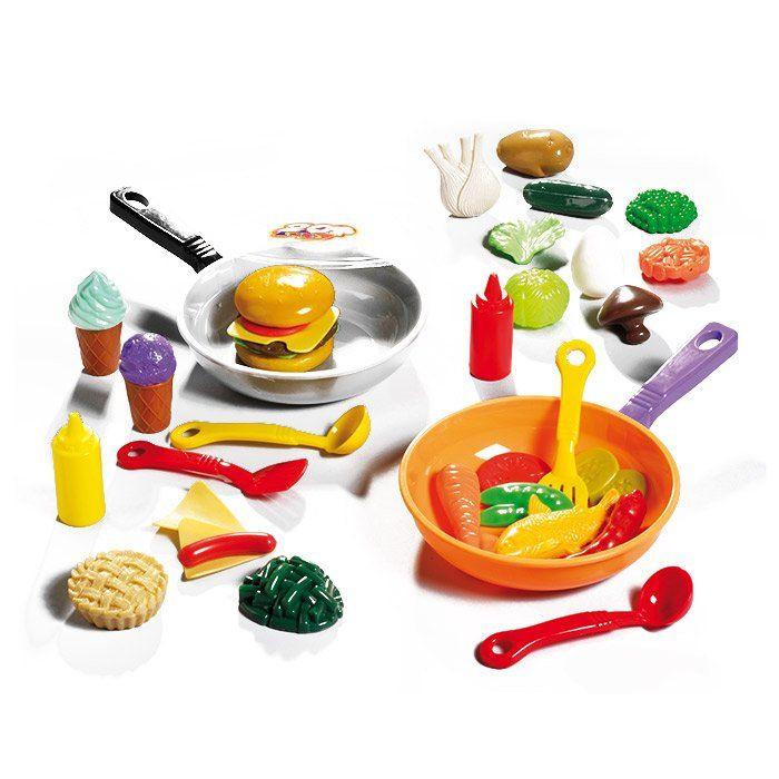 Set alimenti con padella un bel regalo per bambini for Accessori cucina giocattolo