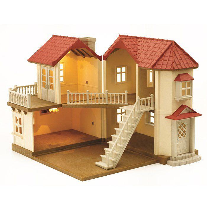 Casa con luci sylvanian families casa grande giocattolo - Luci per la casa ...