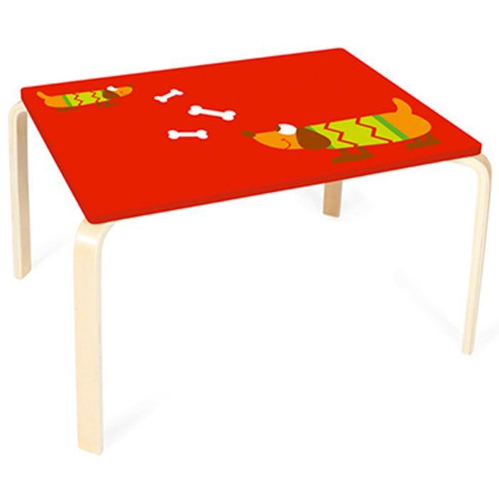 Tavolo per bambini cagnolino di scratch un bel regalo per bambini - Sedie per tavolo in legno ...