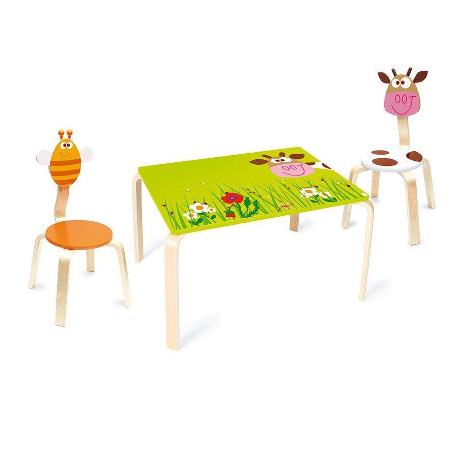 Tavolo per bambini mucca marie di scratch un bel regalo - Tavolo e sedia per bambini ...