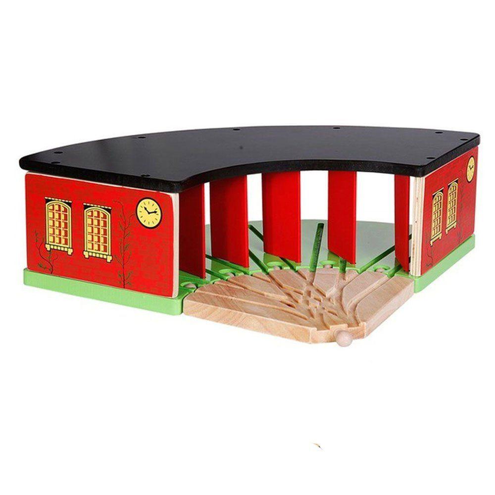Garage trenino in legno di spielmaus un bel regalo per bambini - Trenino di legno ikea ...