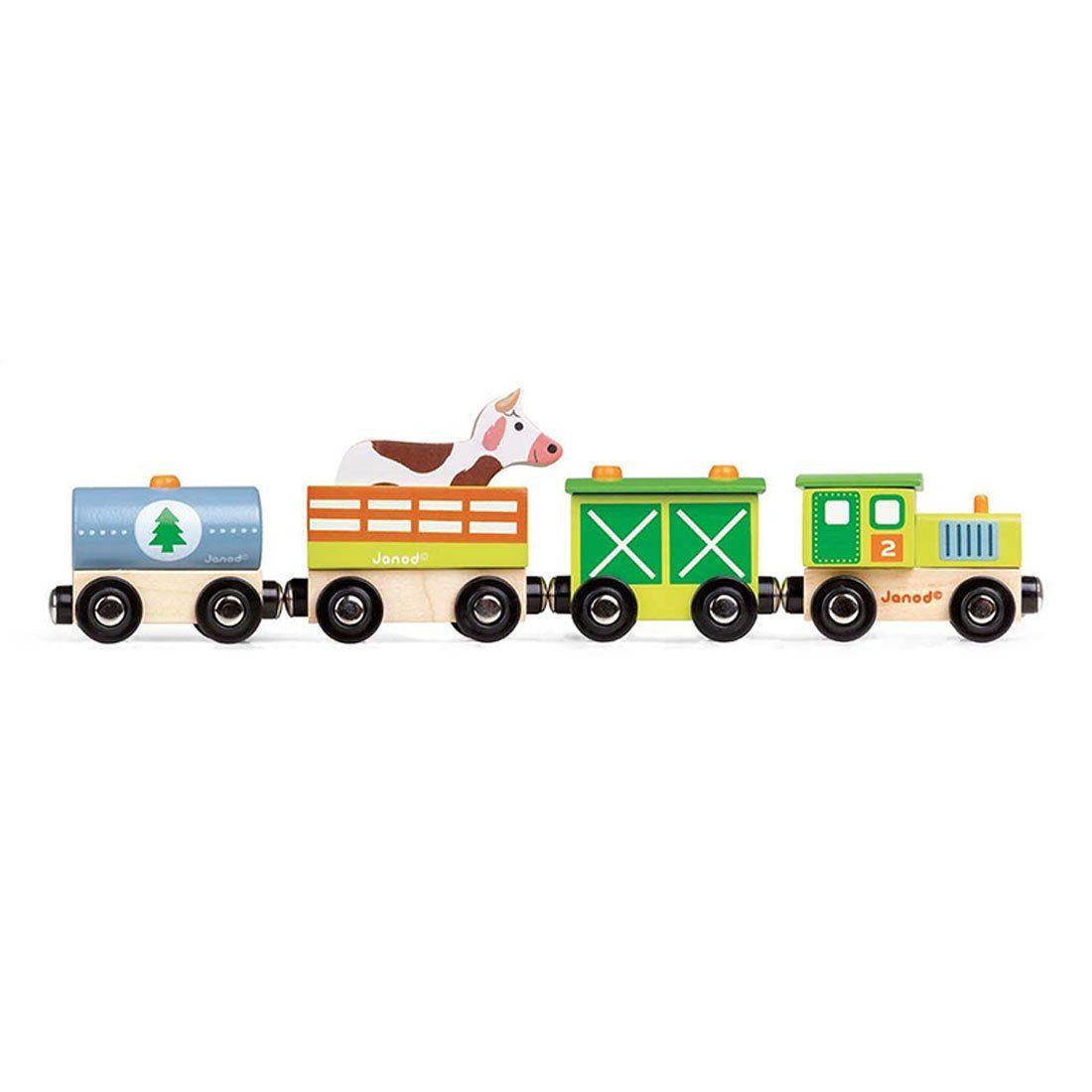 Trenino in legno fattoria di janod un bel regalo per bambini - Trenino di legno ikea ...