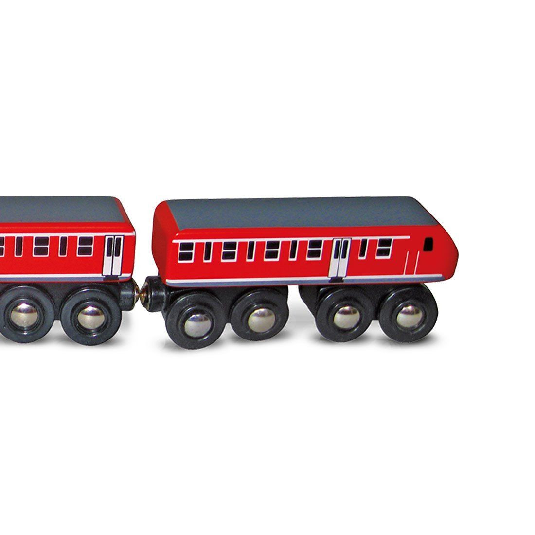 Trenino in legno rosso di spielmaus un bel regalo per bambini - Trenino di legno ikea ...